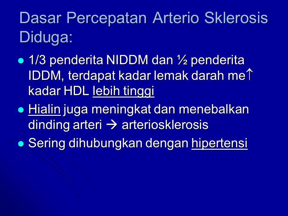 Dasar Percepatan Arterio Sklerosis Diduga: