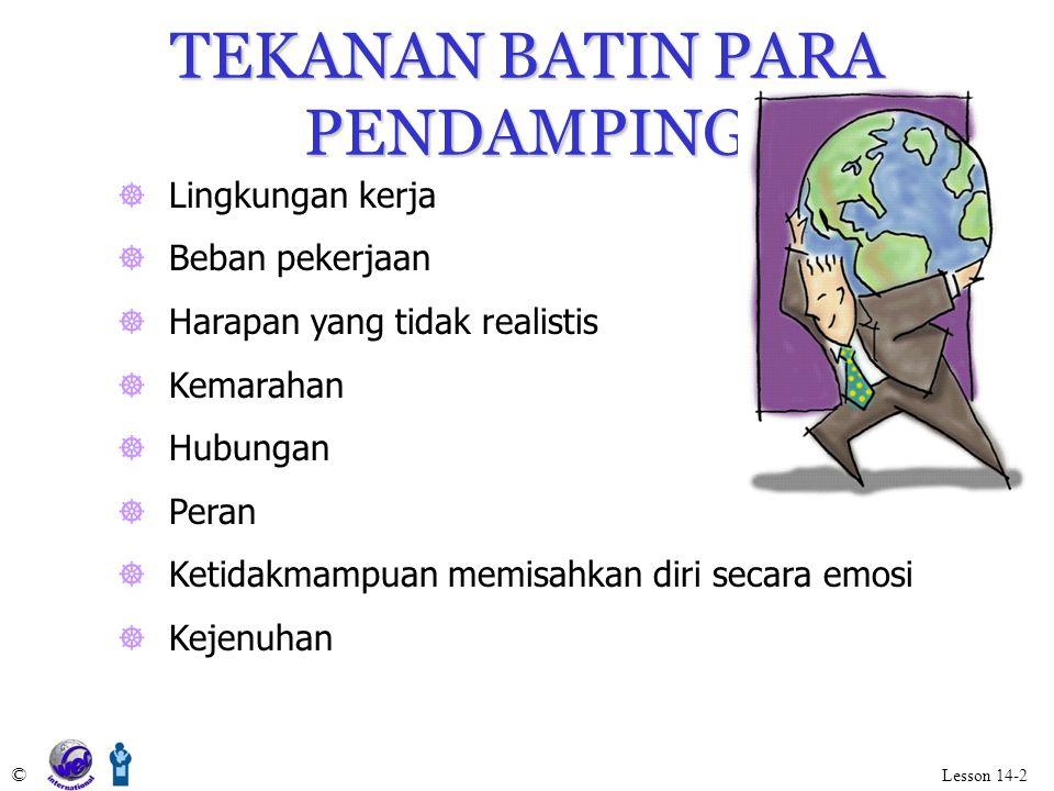 TEKANAN BATIN PARA PENDAMPING
