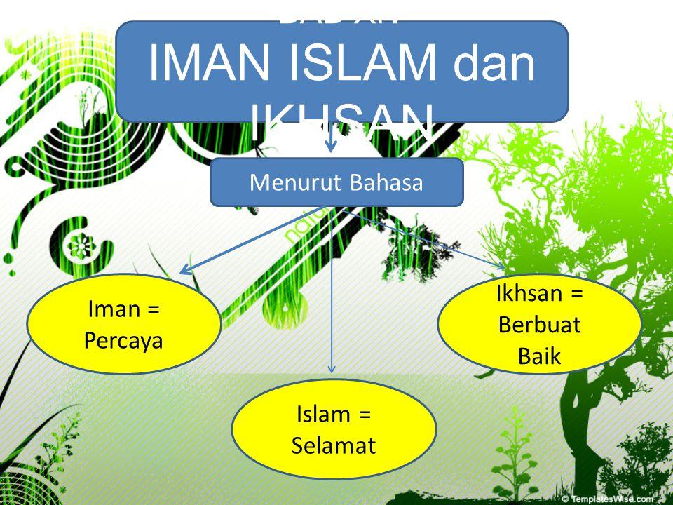 IMAN ISLAM dan IKHSAN BAB XIV Menurut Bahasa Ikhsan = Berbuat Baik
