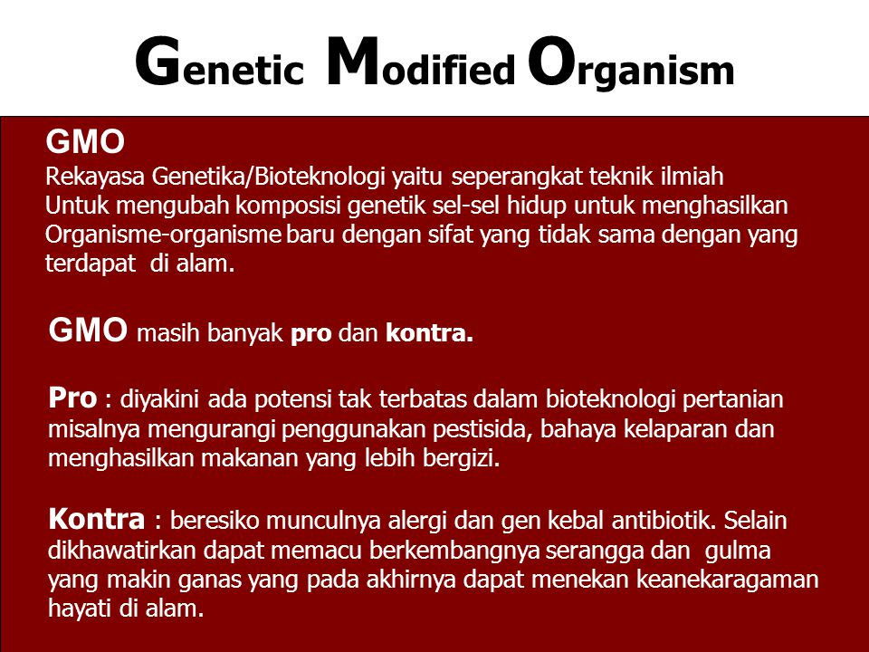 Genetic Modified Organism