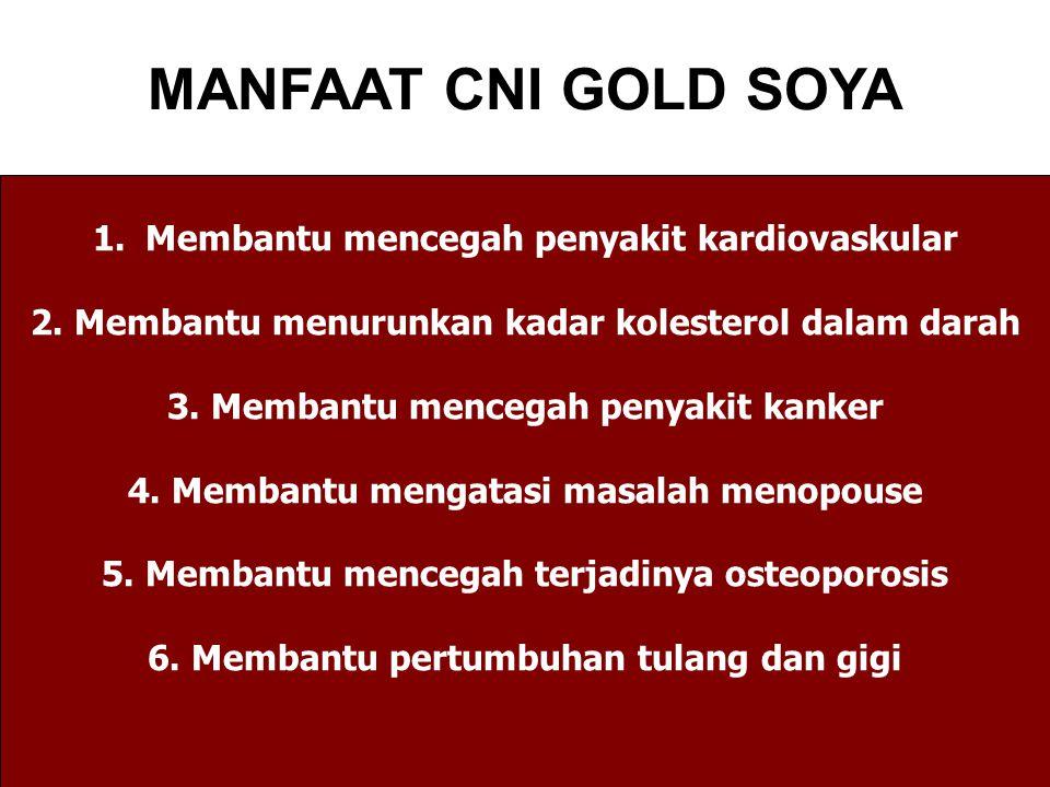 MANFAAT CNI GOLD SOYA Membantu mencegah penyakit kardiovaskular