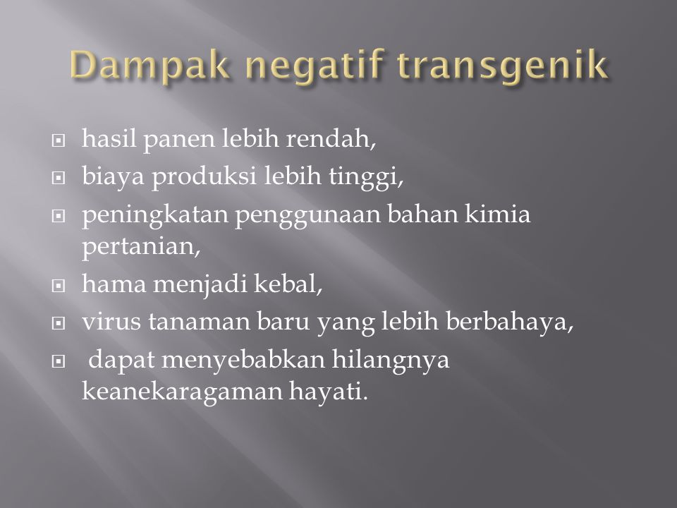 Dampak negatif transgenik