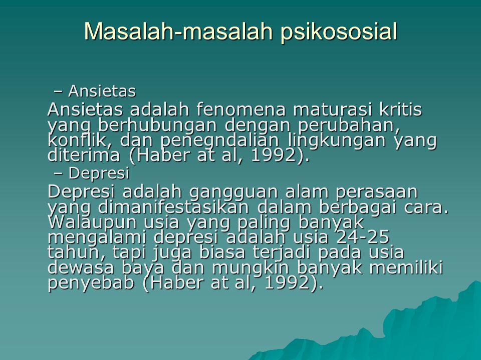 Masalah-masalah psikososial