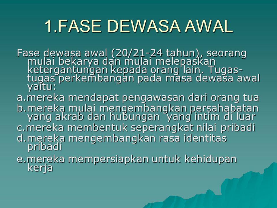 1.FASE DEWASA AWAL