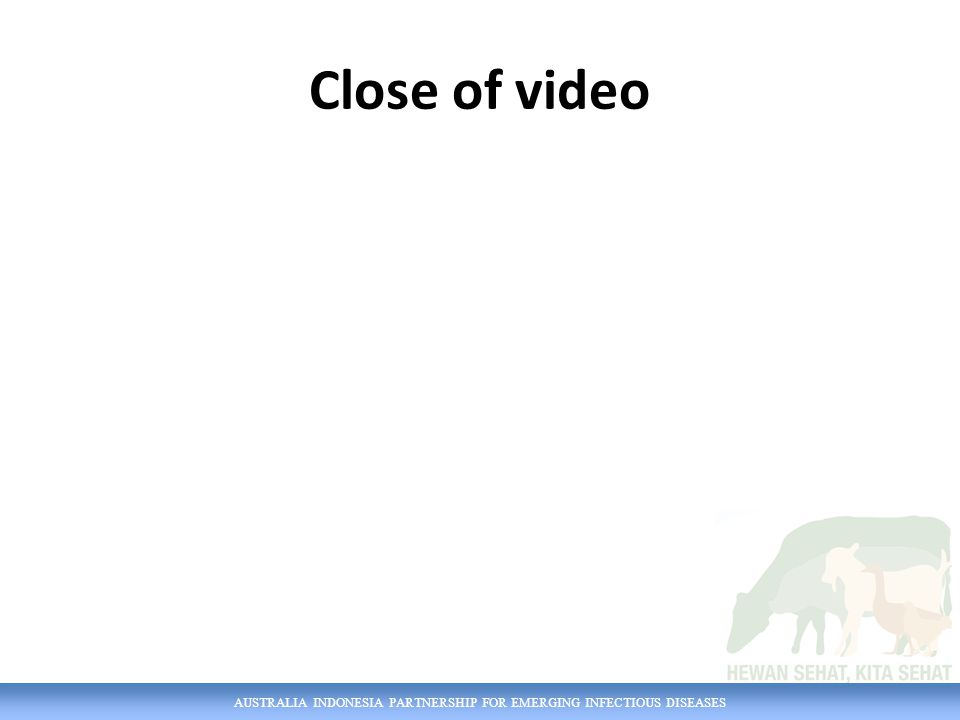 Close of video