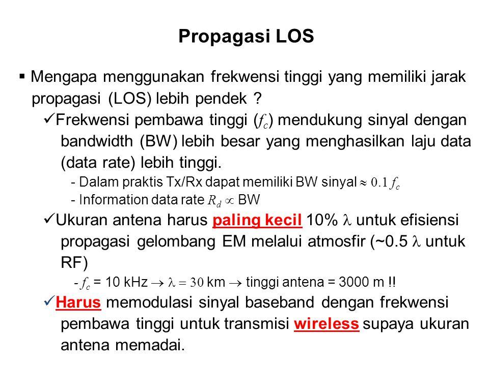 Propagasi LOS Mengapa menggunakan frekwensi tinggi yang memiliki jarak