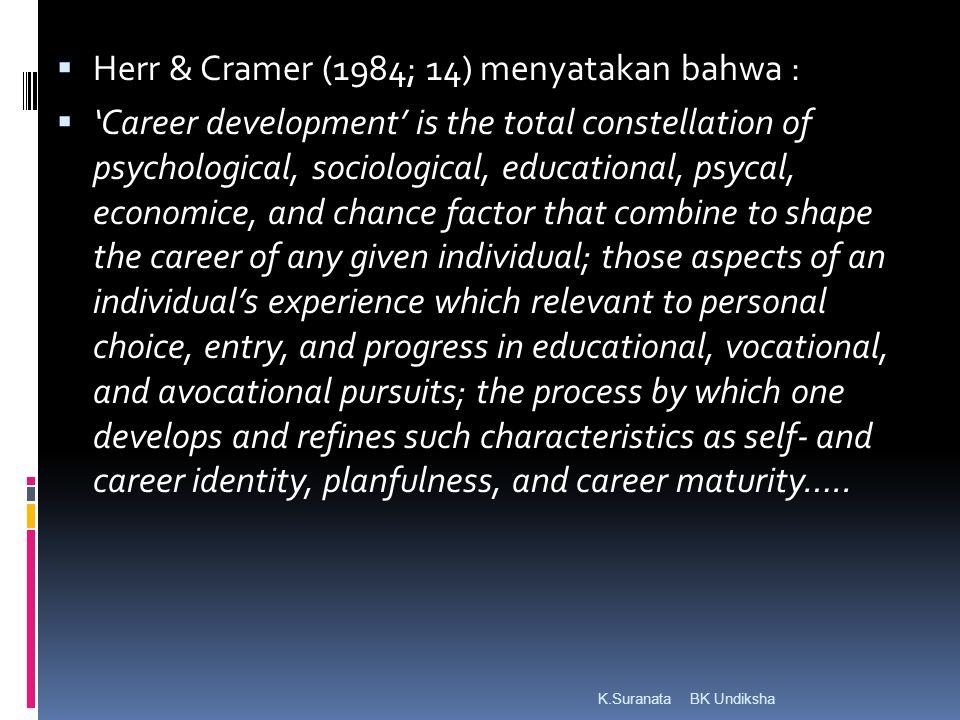 Herr & Cramer (1984; 14) menyatakan bahwa :