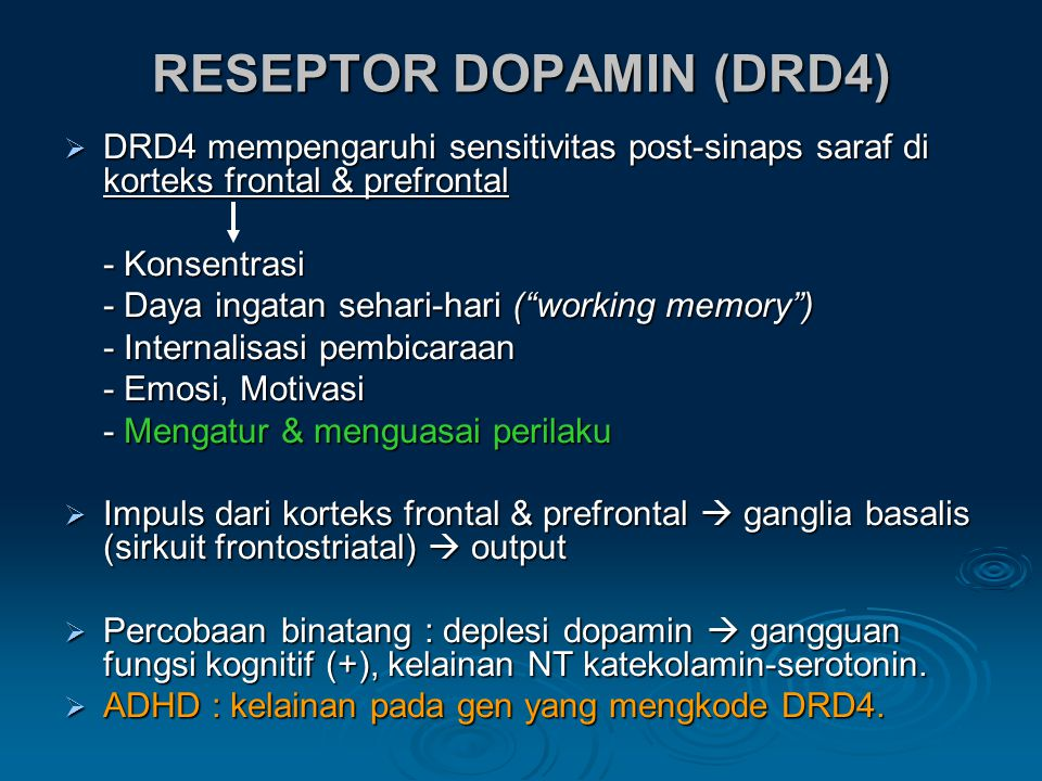 RESEPTOR DOPAMIN (DRD4)