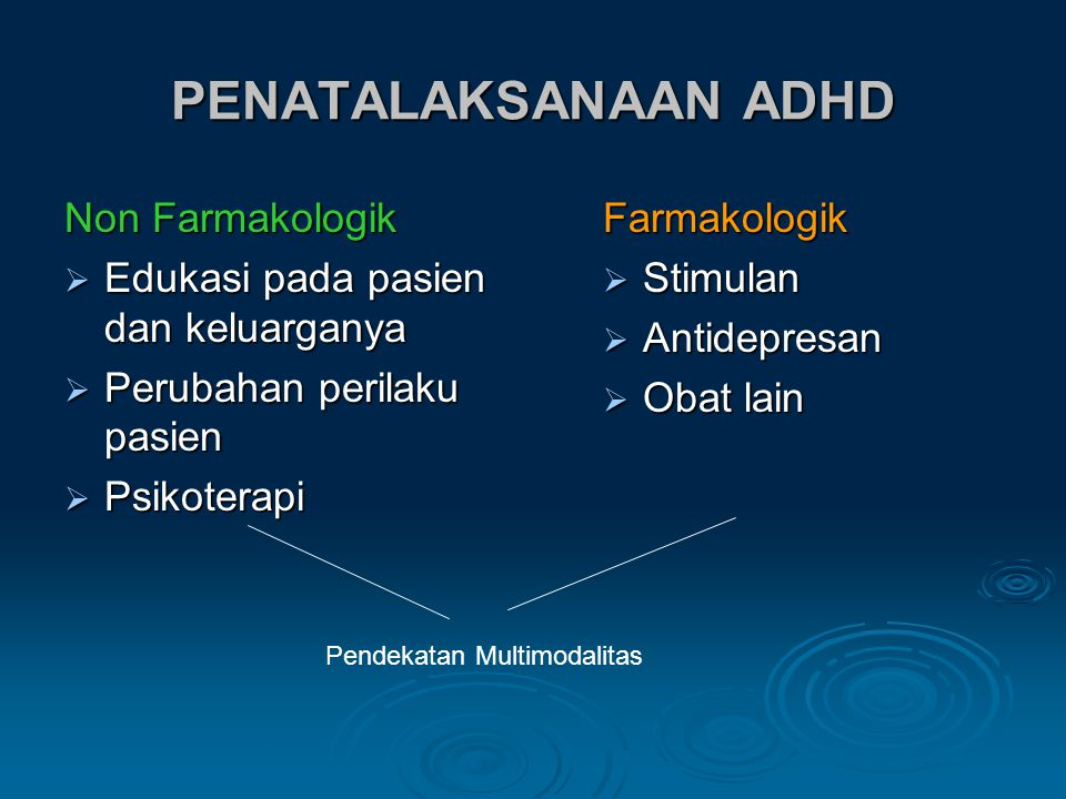 PENATALAKSANAAN ADHD Non Farmakologik