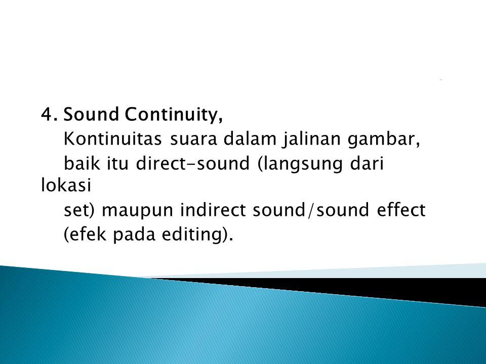Kontinuitas suara dalam jalinan gambar,
