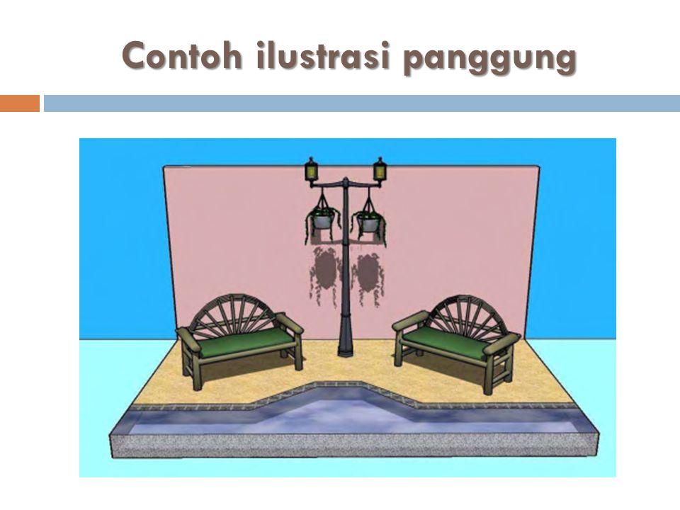 Contoh ilustrasi panggung