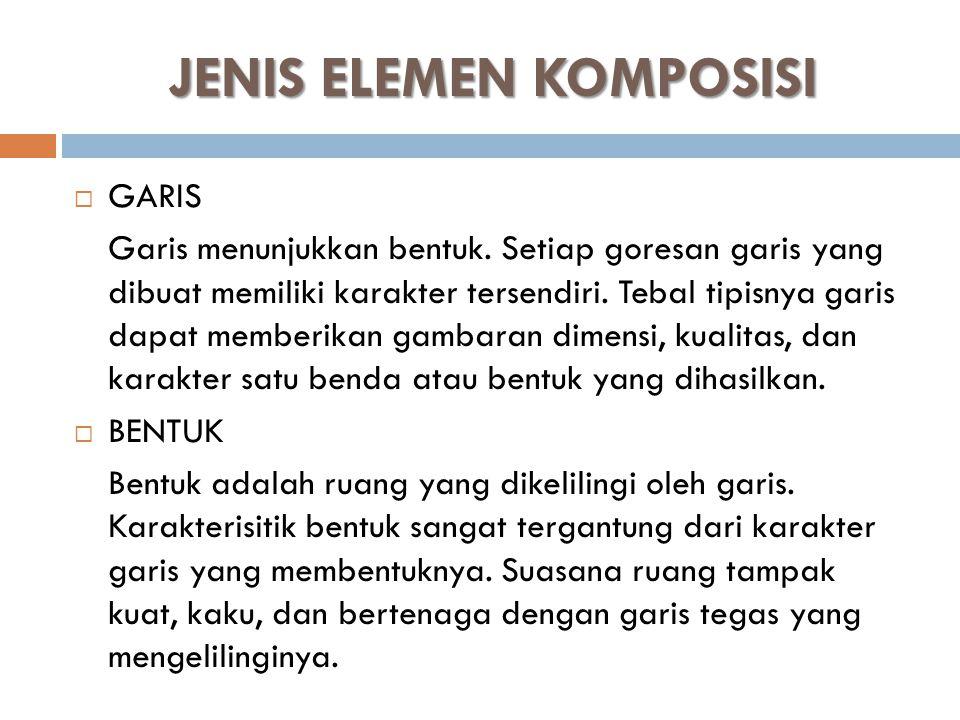 JENIS ELEMEN KOMPOSISI
