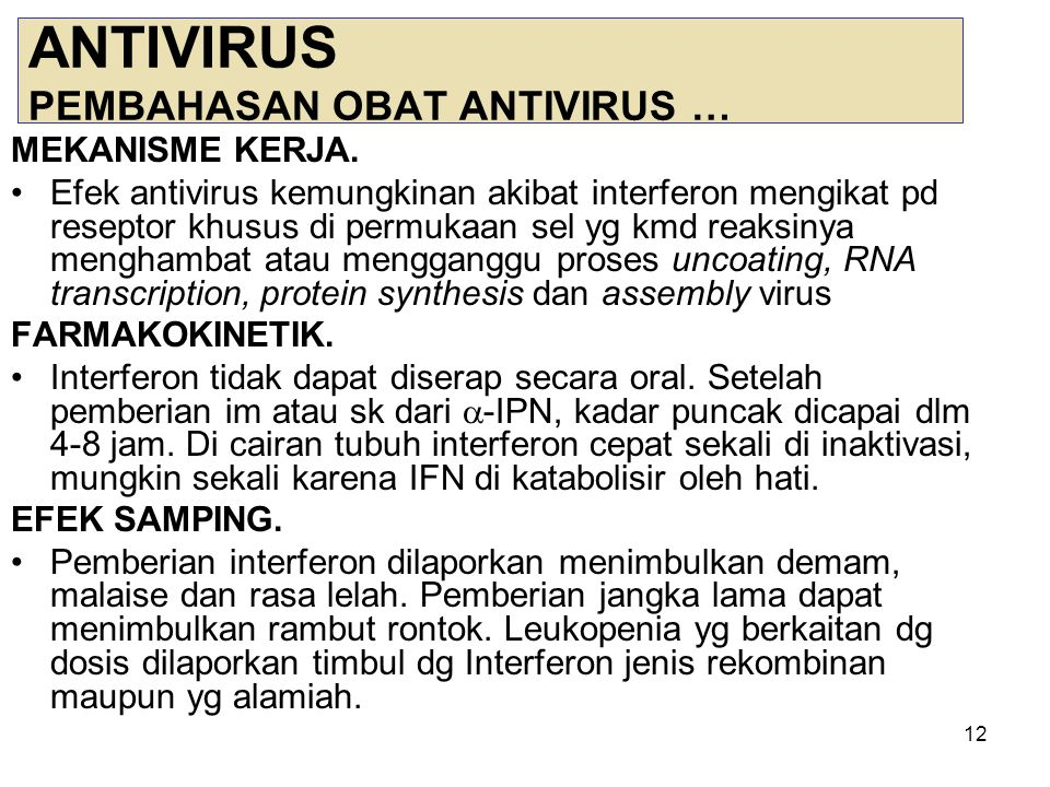 ANTIVIRUS PEMBAHASAN OBAT ANTIVIRUS …