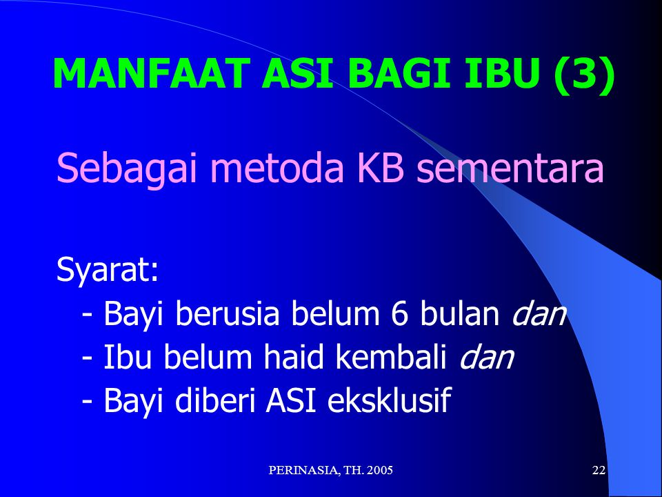 Sebagai metoda KB sementara