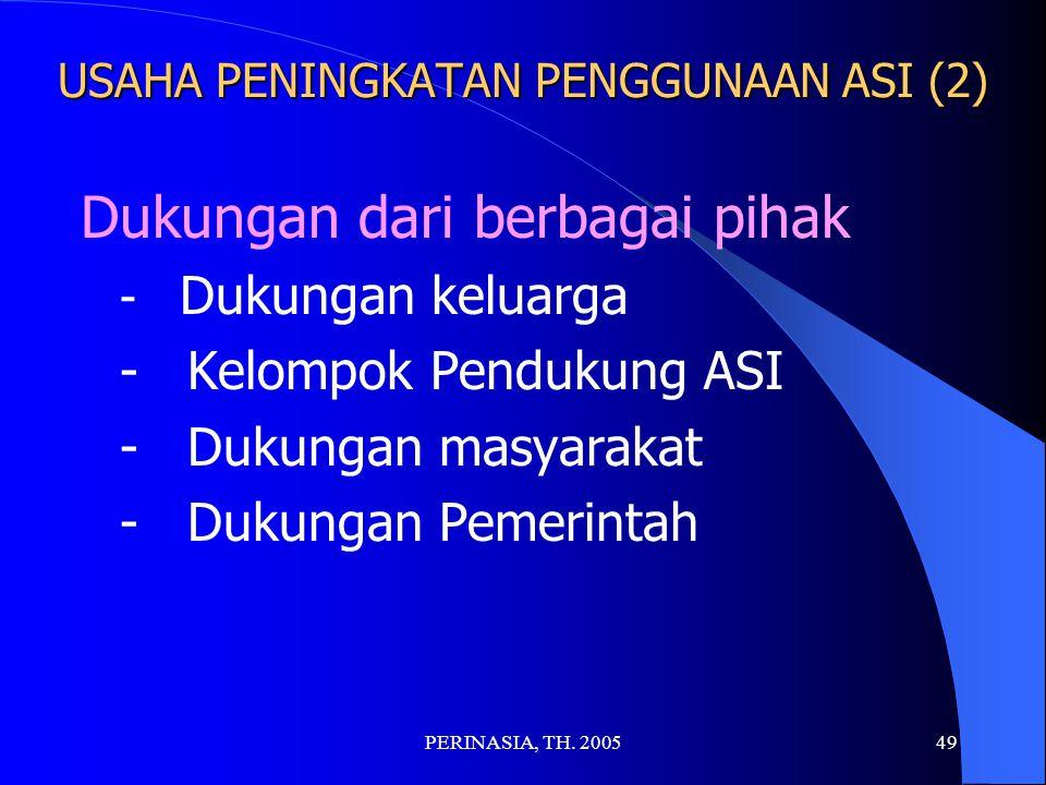 USAHA PENINGKATAN PENGGUNAAN ASI (2)