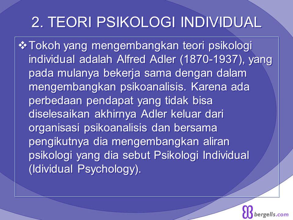 2. TEORI PSIKOLOGI INDIVIDUAL