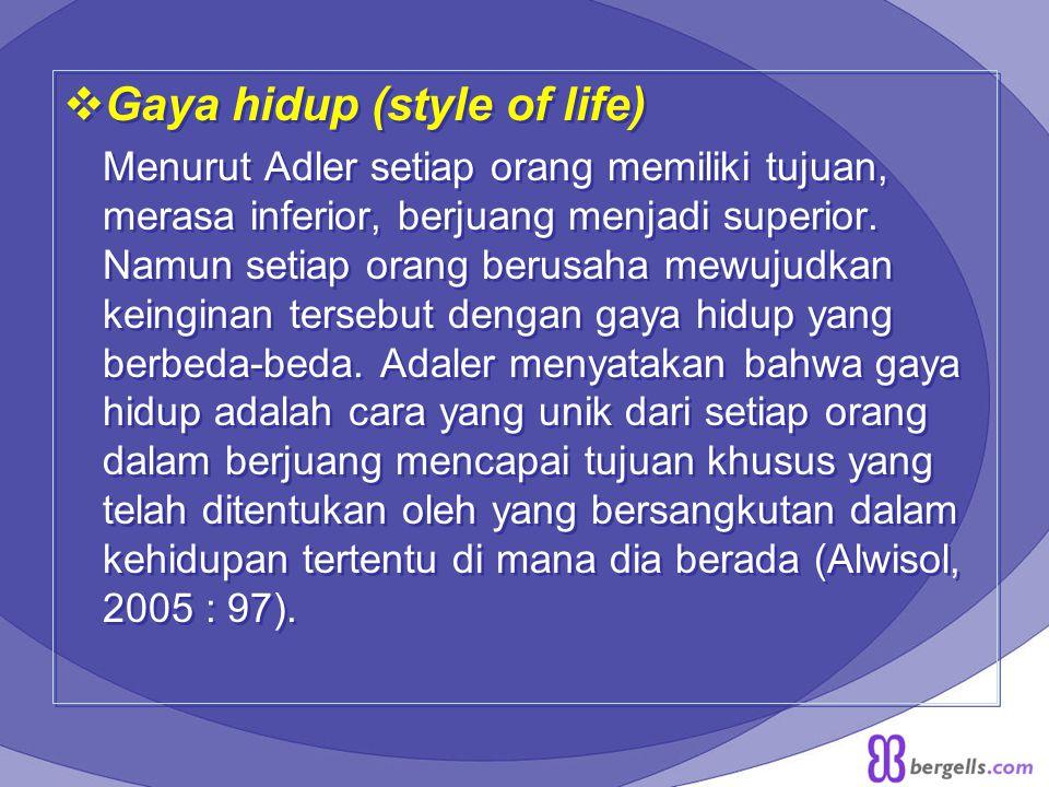 Gaya hidup (style of life)