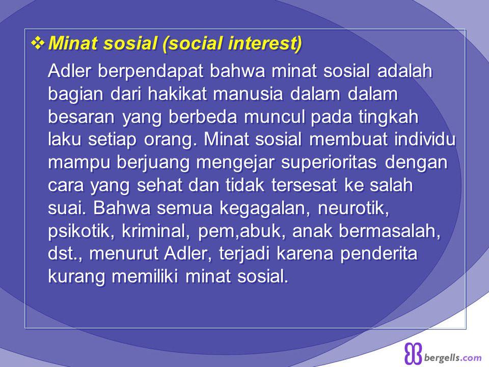 Minat sosial (social interest)