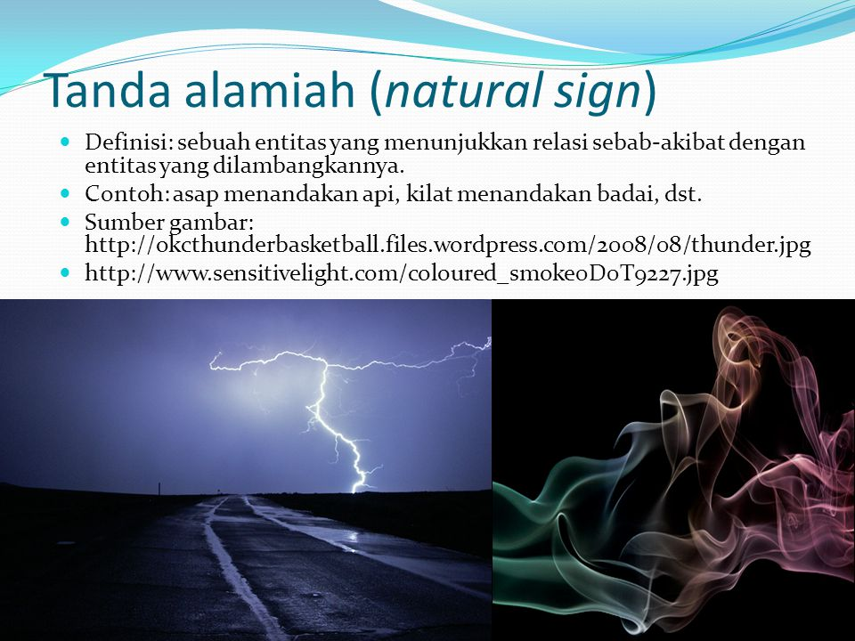 Tanda alamiah (natural sign)