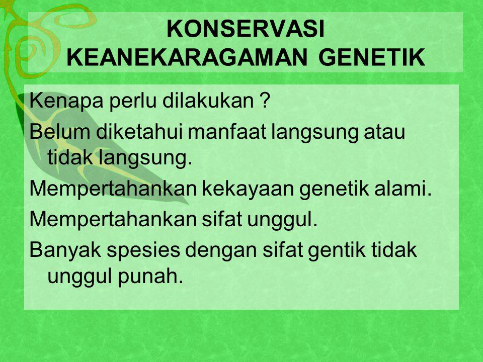 KONSERVASI KEANEKARAGAMAN GENETIK
