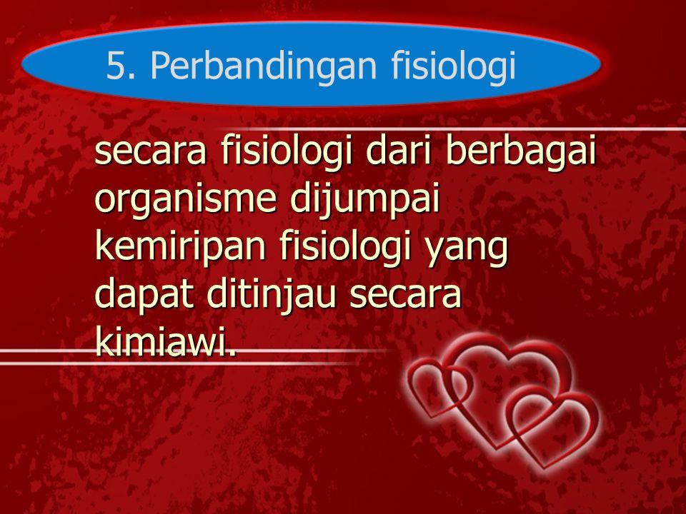 5. Perbandingan fisiologi