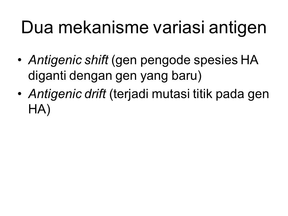 Dua mekanisme variasi antigen
