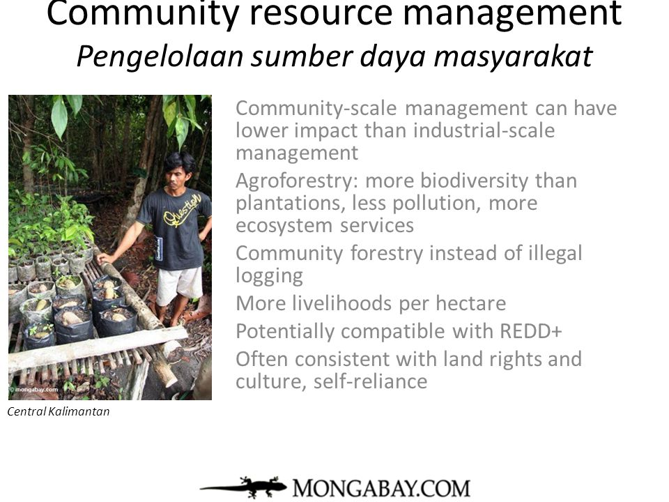 Community resource management Pengelolaan sumber daya masyarakat
