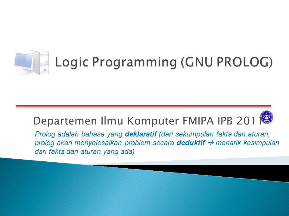 Logic Programming (GNU PROLOG)