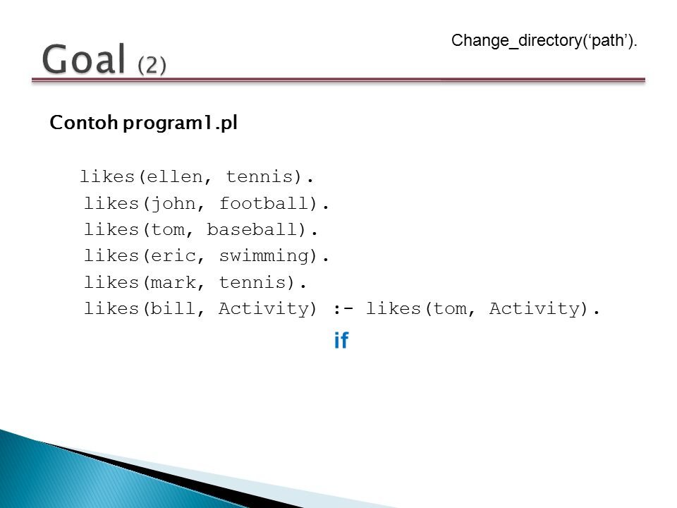 Goal (2) Change_directory('path').