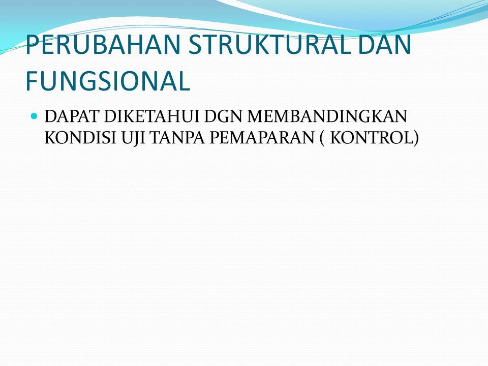 PERUBAHAN STRUKTURAL DAN FUNGSIONAL