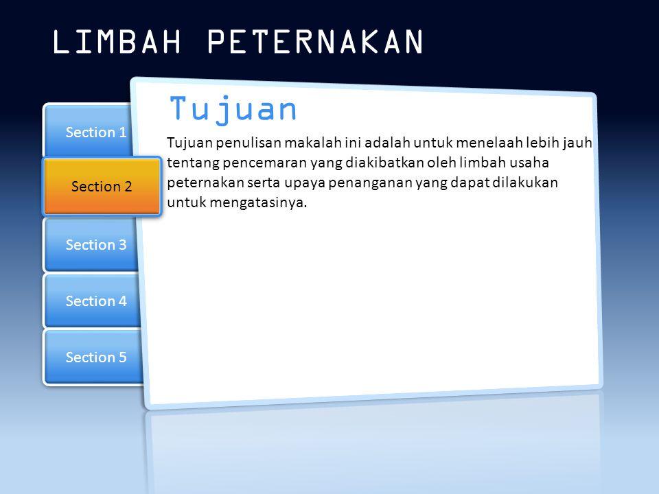 LIMBAH PETERNAKAN Tujuan Section 1