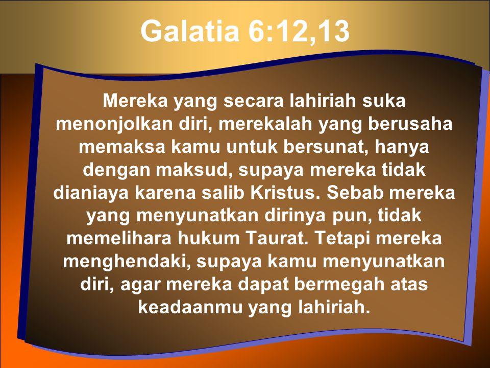 Galatia 6:12,13