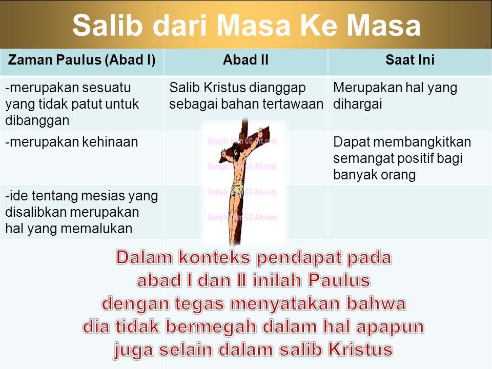 Salib dari Masa Ke Masa Dalam konteks pendapat pada