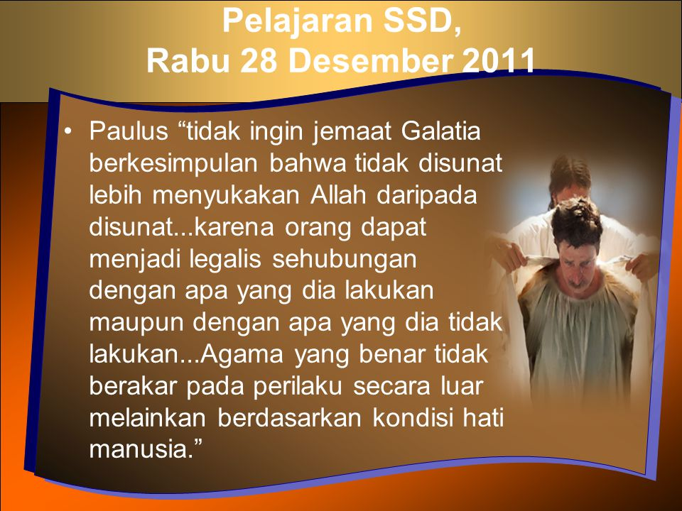 Pelajaran SSD, Rabu 28 Desember 2011
