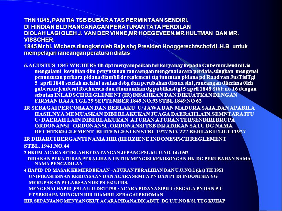 IR DIBARUI BERGANTI NAMA HIR (HERZIENE INDONESISCH REGLEMENT