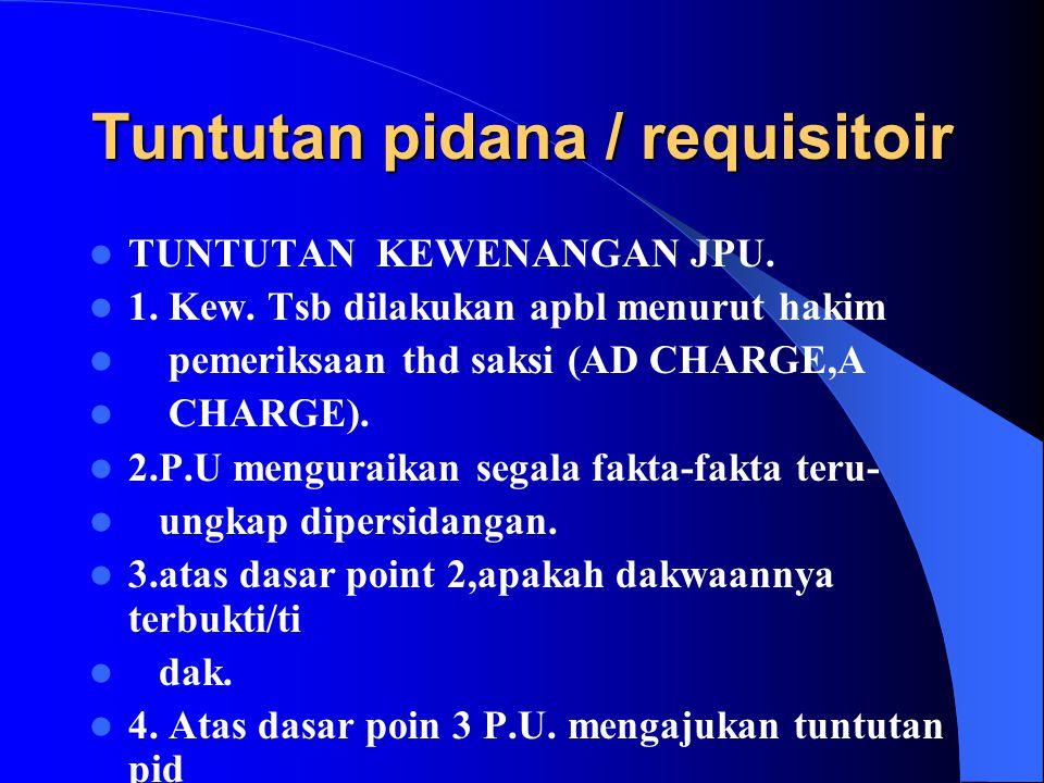 Tuntutan pidana / requisitoir