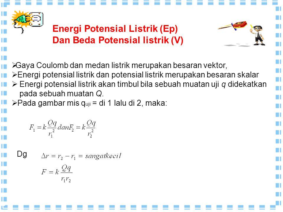 Energi Potensial Listrik (Ep) Dan Beda Potensial listrik (V)