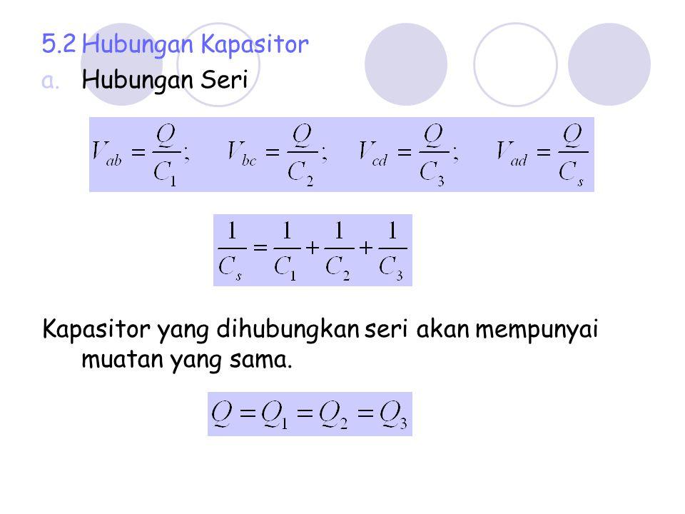 5.2 Hubungan Kapasitor Hubungan Seri.