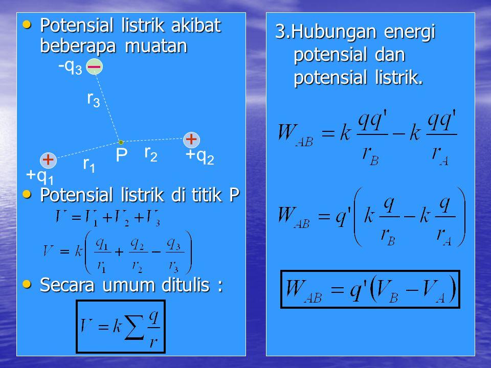 + Potensial listrik akibat beberapa muatan