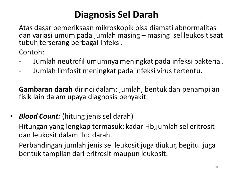 Diagnosis Sel Darah