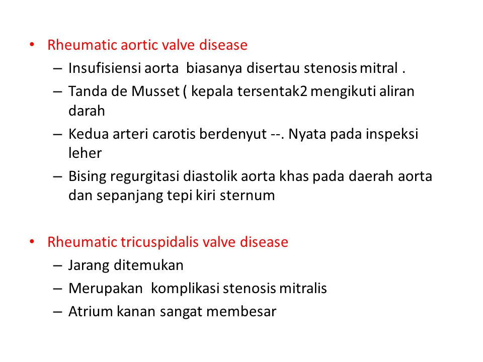 Rheumatic aortic valve disease
