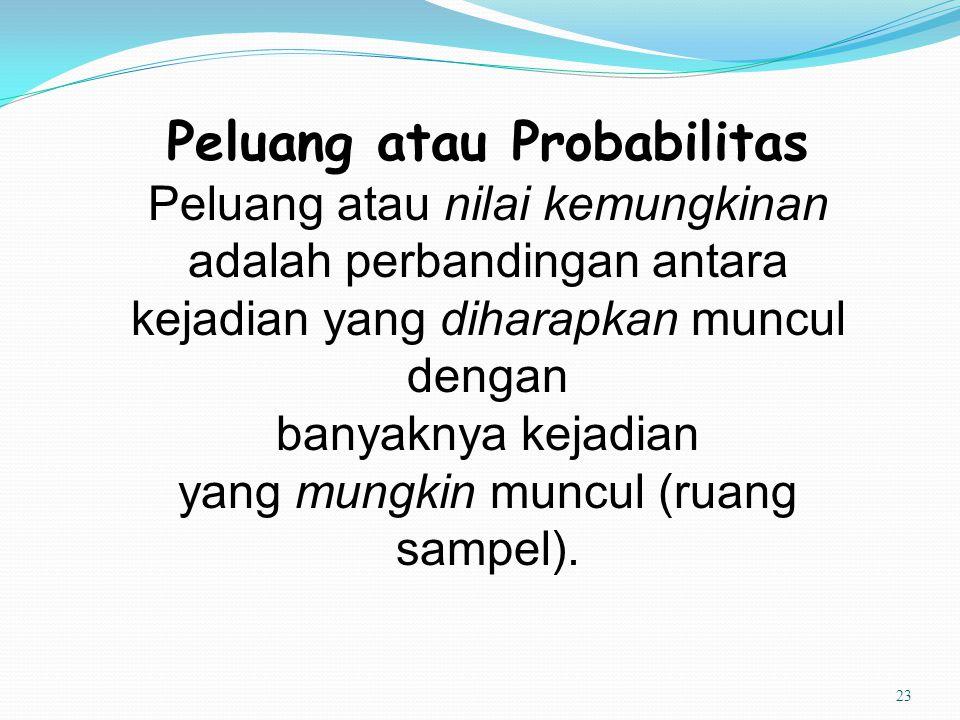 Peluang atau Probabilitas