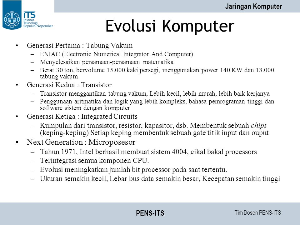 Evolusi Komputer Next Generation : Microposesor
