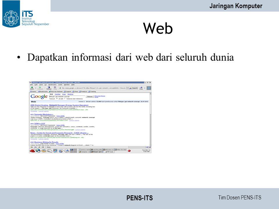 Web Dapatkan informasi dari web dari seluruh dunia PENS-ITS