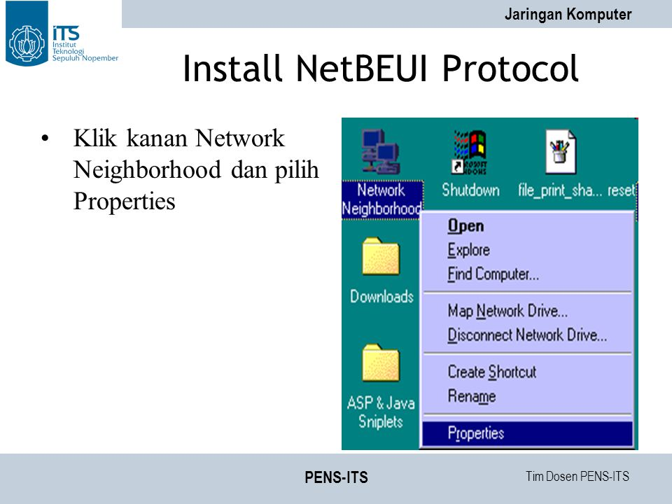 Install NetBEUI Protocol
