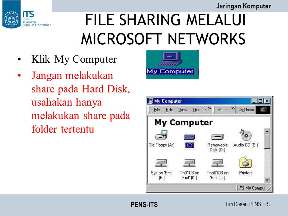 FILE SHARING MELALUI MICROSOFT NETWORKS