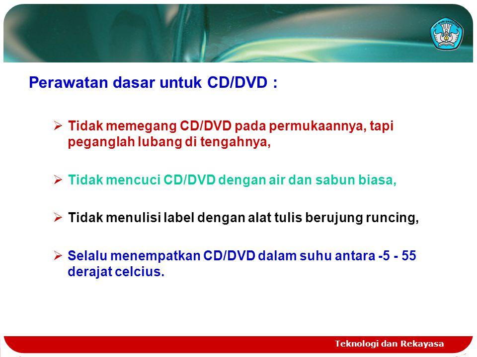 Perawatan dasar untuk CD/DVD :