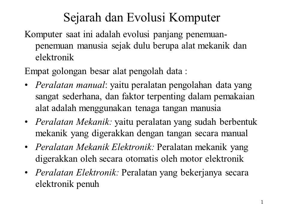 Sejarah dan Evolusi Komputer