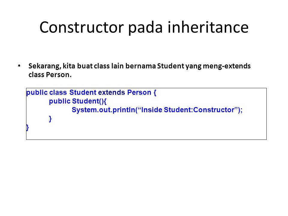 Constructor pada inheritance