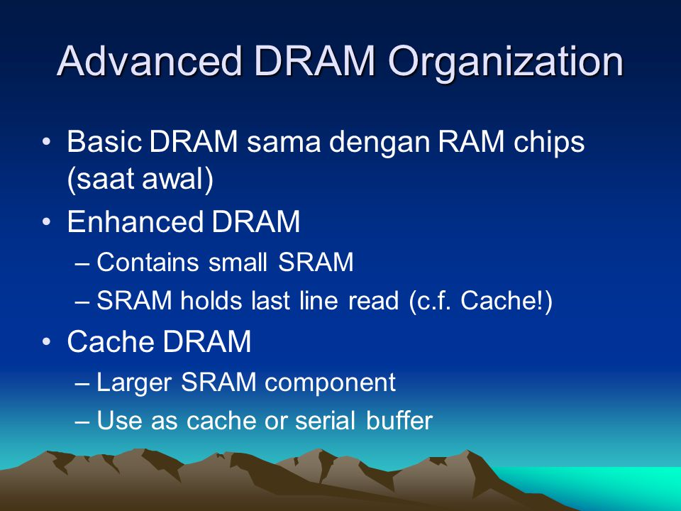 Advanced DRAM Organization